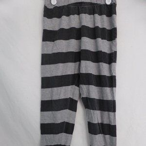 GEORGE, grey & black striped pajama pants, medium